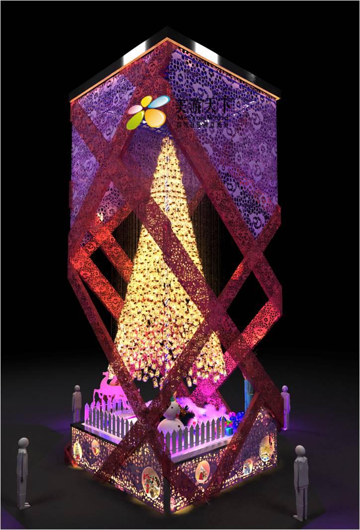 大型圣诞树3d图